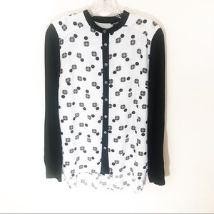 🌵 Vince Camuto black and white button down